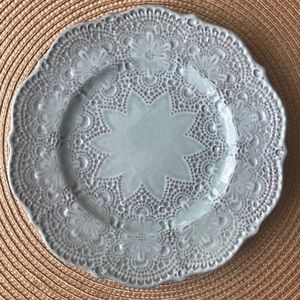 "Arte Italica Merletto Aqua 8"" Salad/Dessert Plate"
